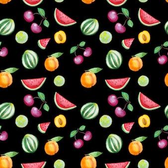 Ручной обращается фрукты шаблон