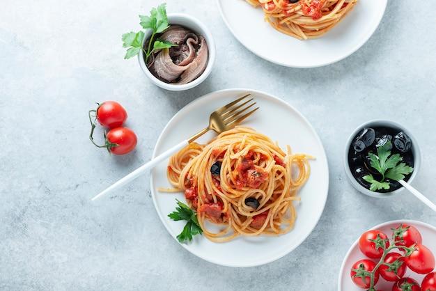 伝統的なイタリアンパスタ