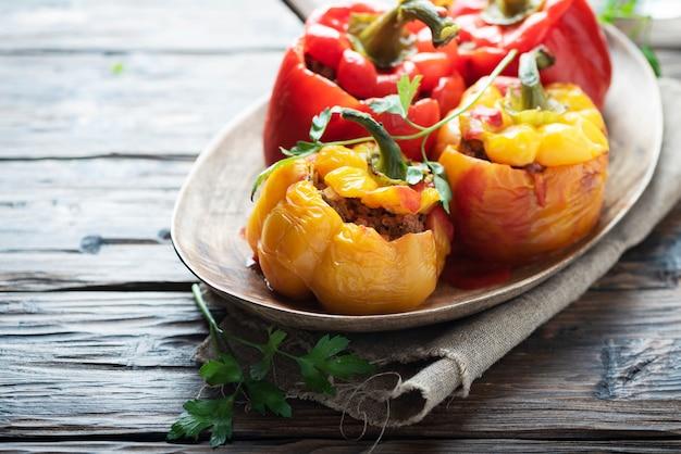 Фаршированные перцы с мясом