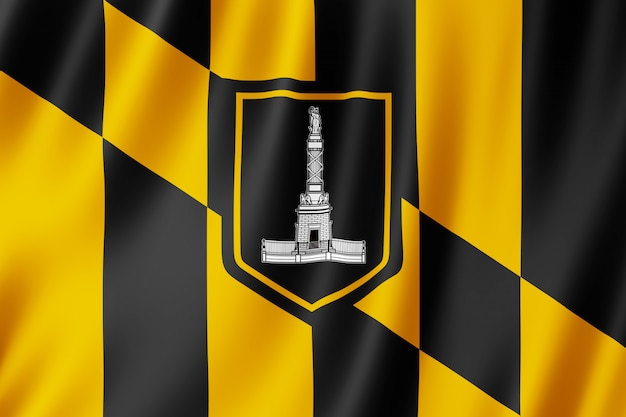 Флаг города балтимор, штат мэриленд (сша)