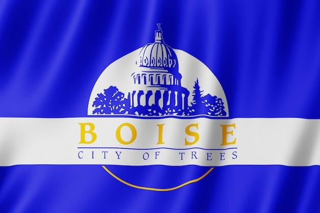 米国アイダホ州ボイシ市の旗