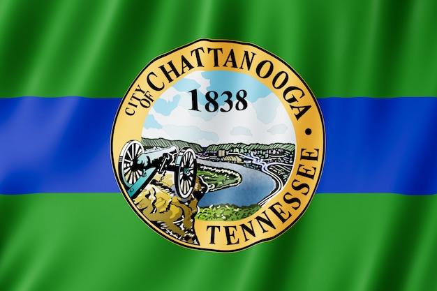 米国テネシー州チャタヌーガ市の旗