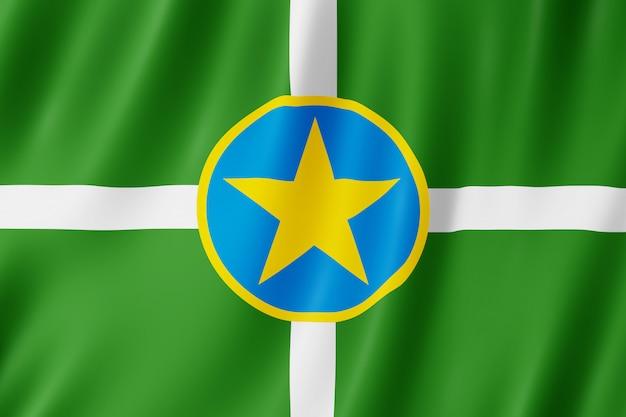 米国ミシシッピ州ジャクソン市の旗