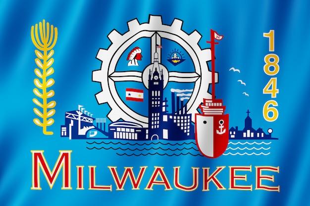 ミルウォーキー市(ウィスコンシン州)の旗