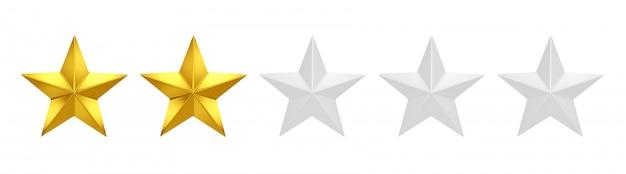 Два из пяти звезд рейтинга