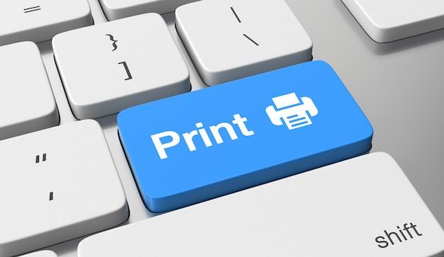 キーボードボタンのテキストを印刷する