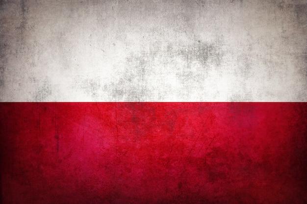 グランジポーランドの旗。ヴィンテージポーランドの旗