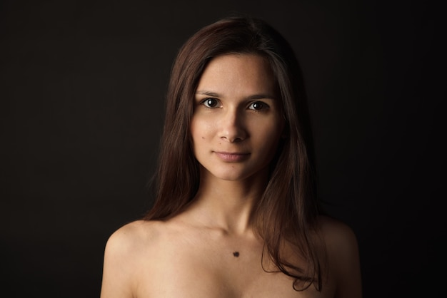Красота женский портрет. концепция ухода за кожей