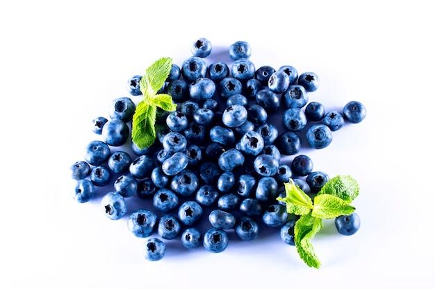ブルーベリーのブルーベリー。健康的な食事のための果物。