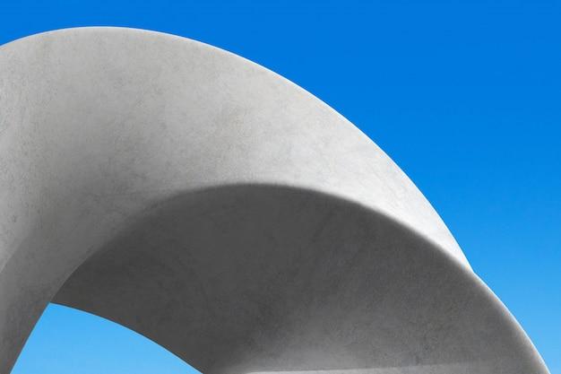 最小限のコンクリート建築の抽象的な詳細