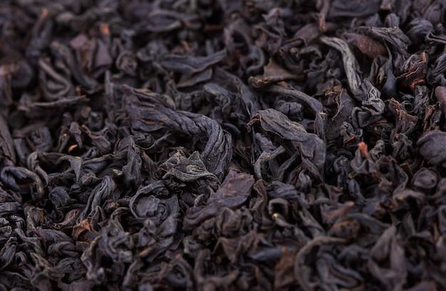 ドライ紅茶の山をクローズアップ