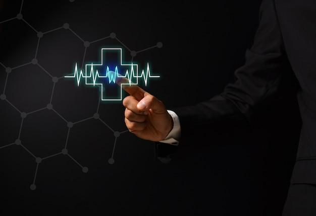 健康概念設計と人間の手