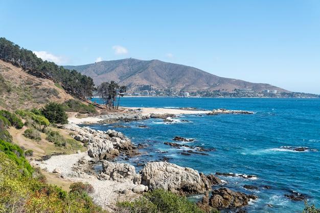 チリの海岸の美しい景色