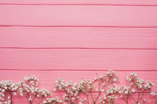 Розовый деревянные поверхности с декоративными ветками