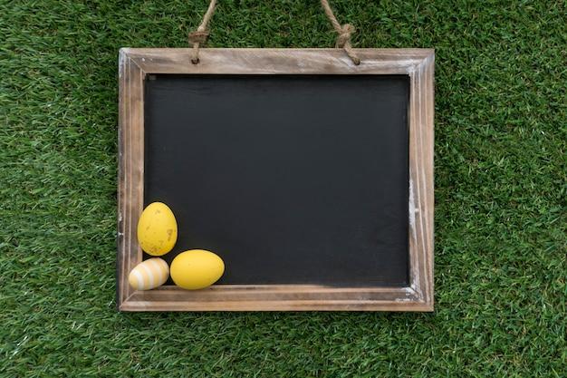 Декоративные пасхальные яйца на чистый лист