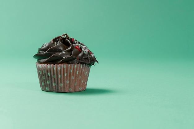おいしいチョコレートのカップケーキ
