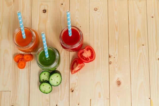 野菜ジュースの上面図