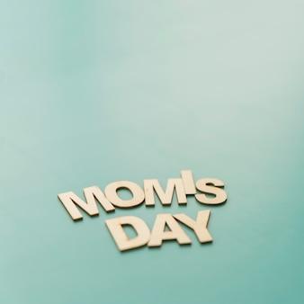 「ママの日」のレタリング
