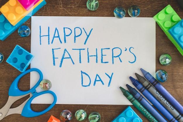 子供の要素を持つ父の日の構成