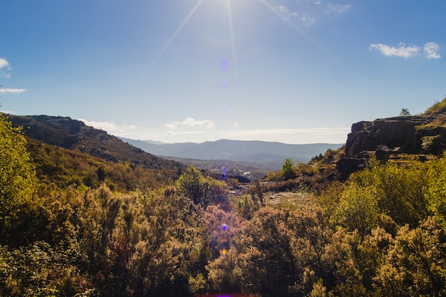 Красивый холмистый пейзаж