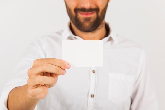 ビジネスマン、訪問、カード