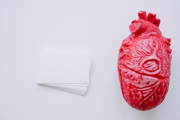 現実的な心臓名刺付き