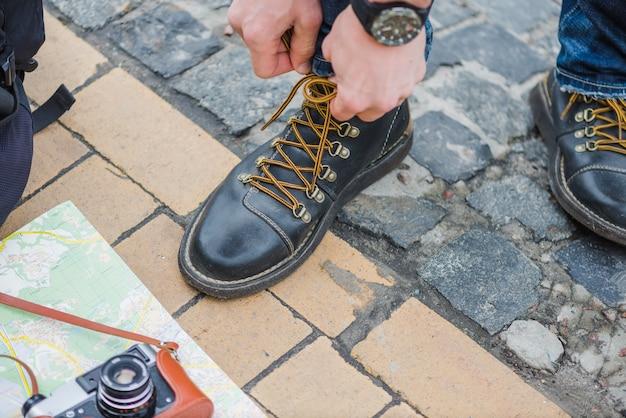 男性用の旅行用締め付け靴