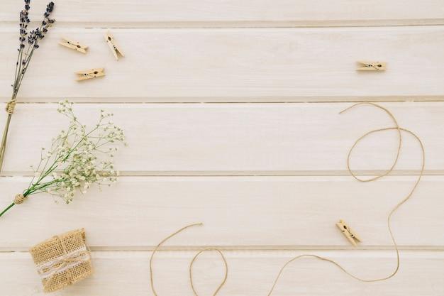 結婚式の装飾品と組成