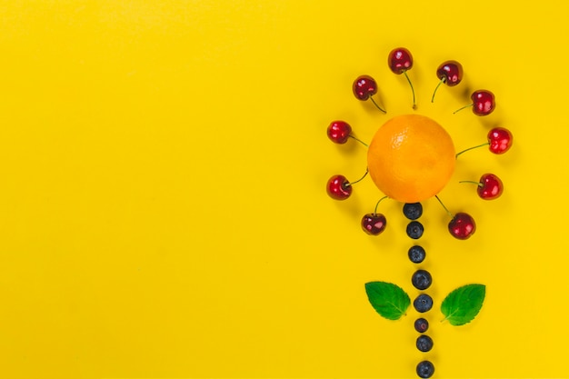 フルーツでできたおいしい花