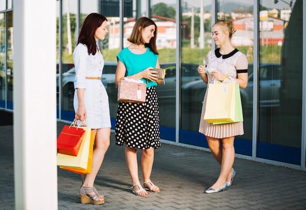 女性の買い物客(ウォレット付)