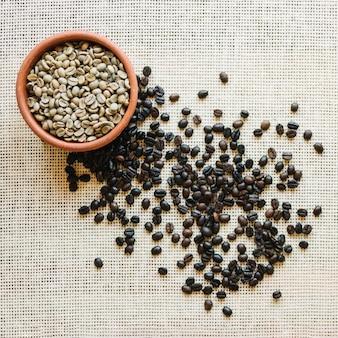 焙煎されていないコーヒー豆