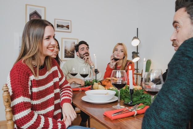 友達とのクリスマスディナー