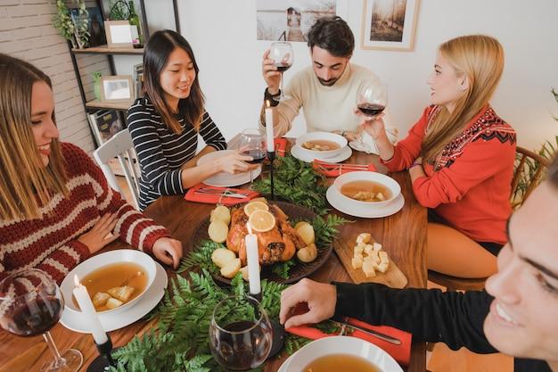 自宅でのクリスマスディナー