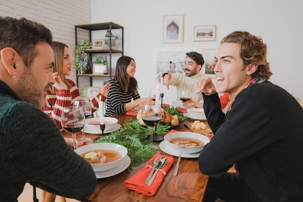 お友達とのクリスマスディナー