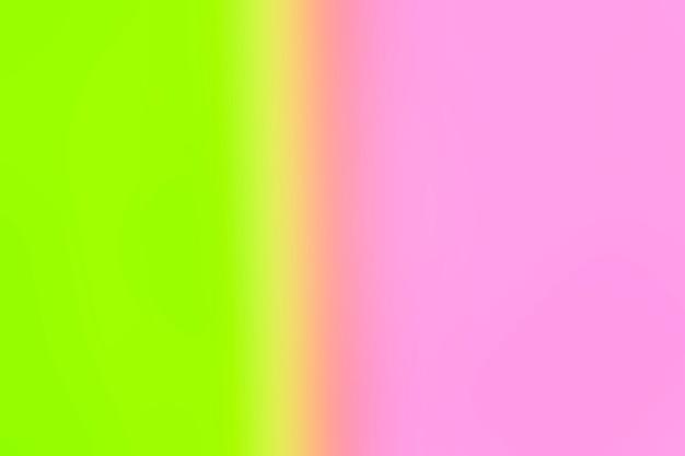 明るい緑とピンクのグラデーション