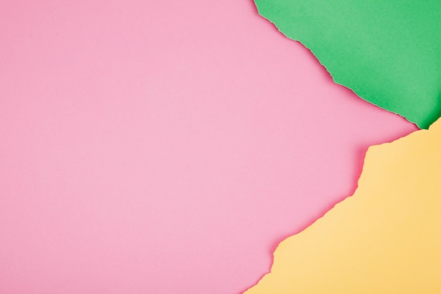 Красочный фон рваных бумаг