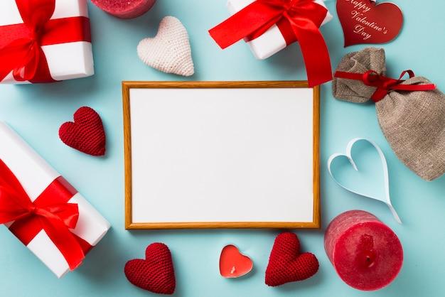Рамка и день святого валентина