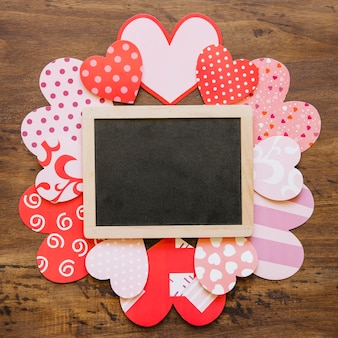 バレンタインデーカードの黒板