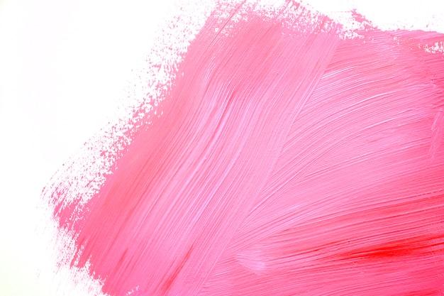 壁に明るいピンクのストローク