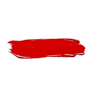 鮮やかな赤い塗料のストローク
