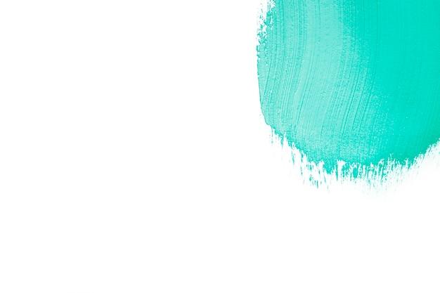 青い塗料のストローク
