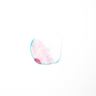 青い線に赤い塗料