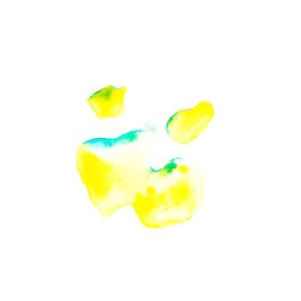 黄色と青の塗装ブロット