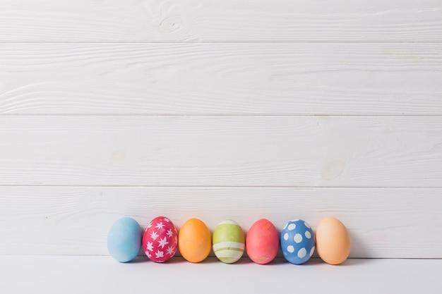 色の付いた卵のセット