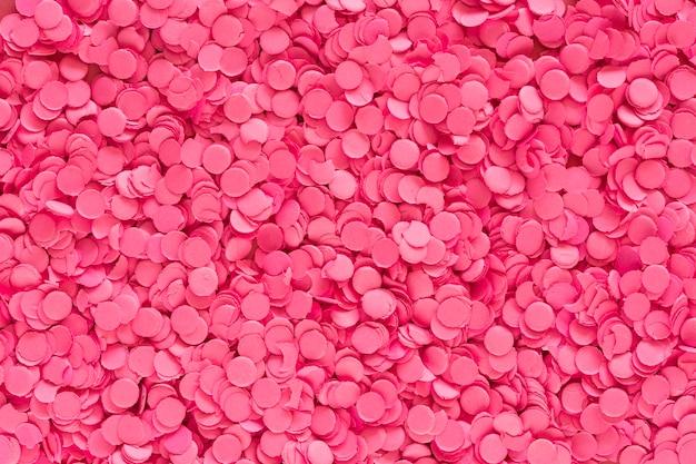 ピンク色の紙吹雪の背景