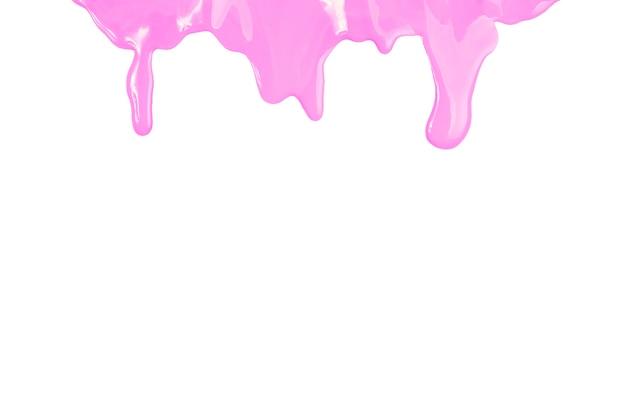 ピンクの塗料がこぼれる