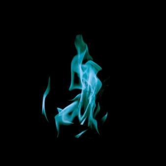 激しい青い火の炎