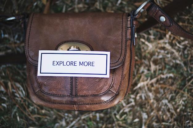 バッグへの書き込みを促す