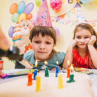 女の子、誕生日、ケーキ