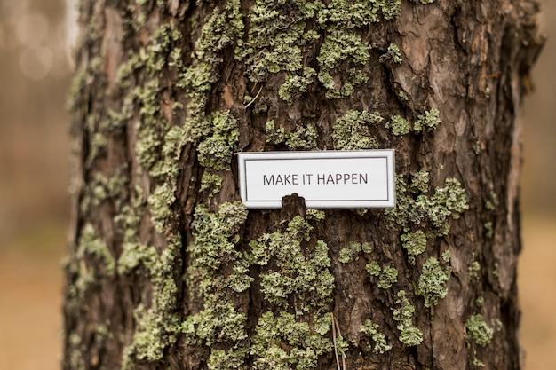 木に書くことを奨励する